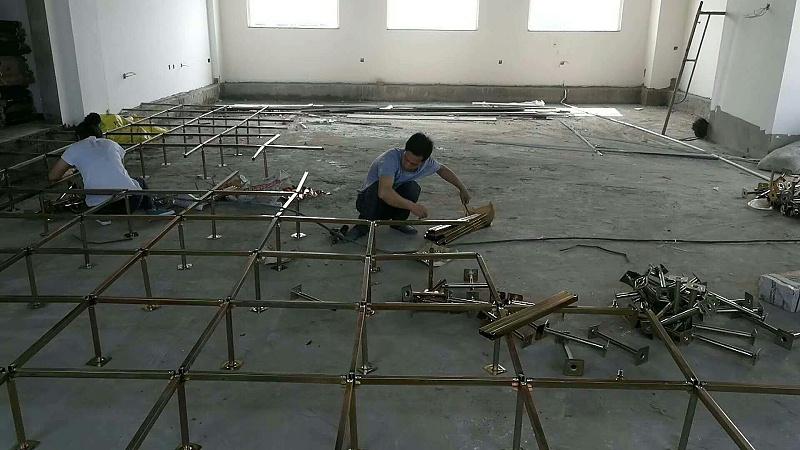未来星防静电地板安装