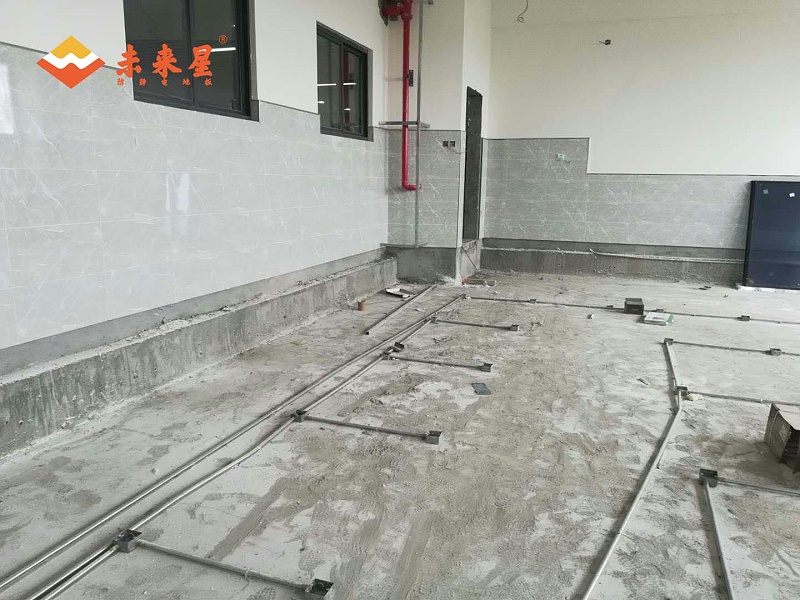 机房防静电地板安装现场