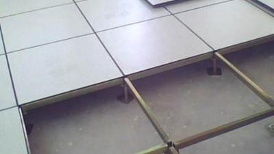 防静电架空活动地板中的发泡水泥起什么作用?