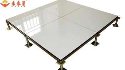 西安第四污水处理厂中控室采用象牙白陶瓷架空活动地板施工解决方案