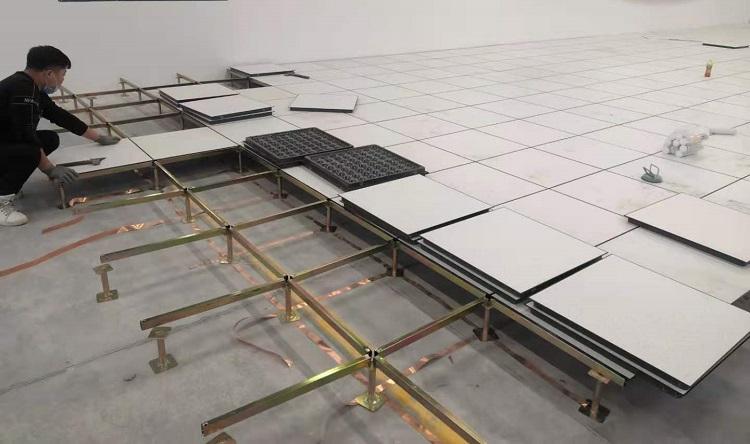 未来星防静电地板施工图