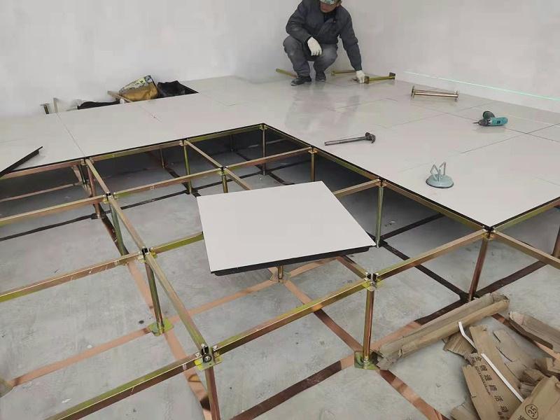 机房安装防静电地板